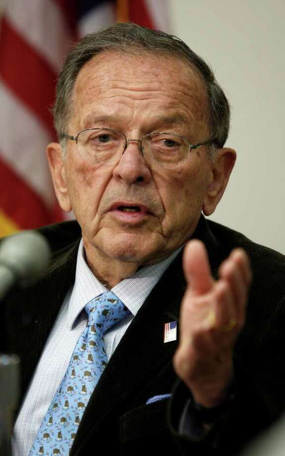 U.S. Sen. Ted Stevens died in a plane crash while en route to a private fishing lodge in Alaska. The crash also killed former FAA administrator Sean O'Keefe. Photo: Contributed Photo / Greenwich Time Contributed