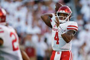 D'Eriq King struggled with learning a new offensive system under first-year UH coach Dana Holgorsen in 2019.