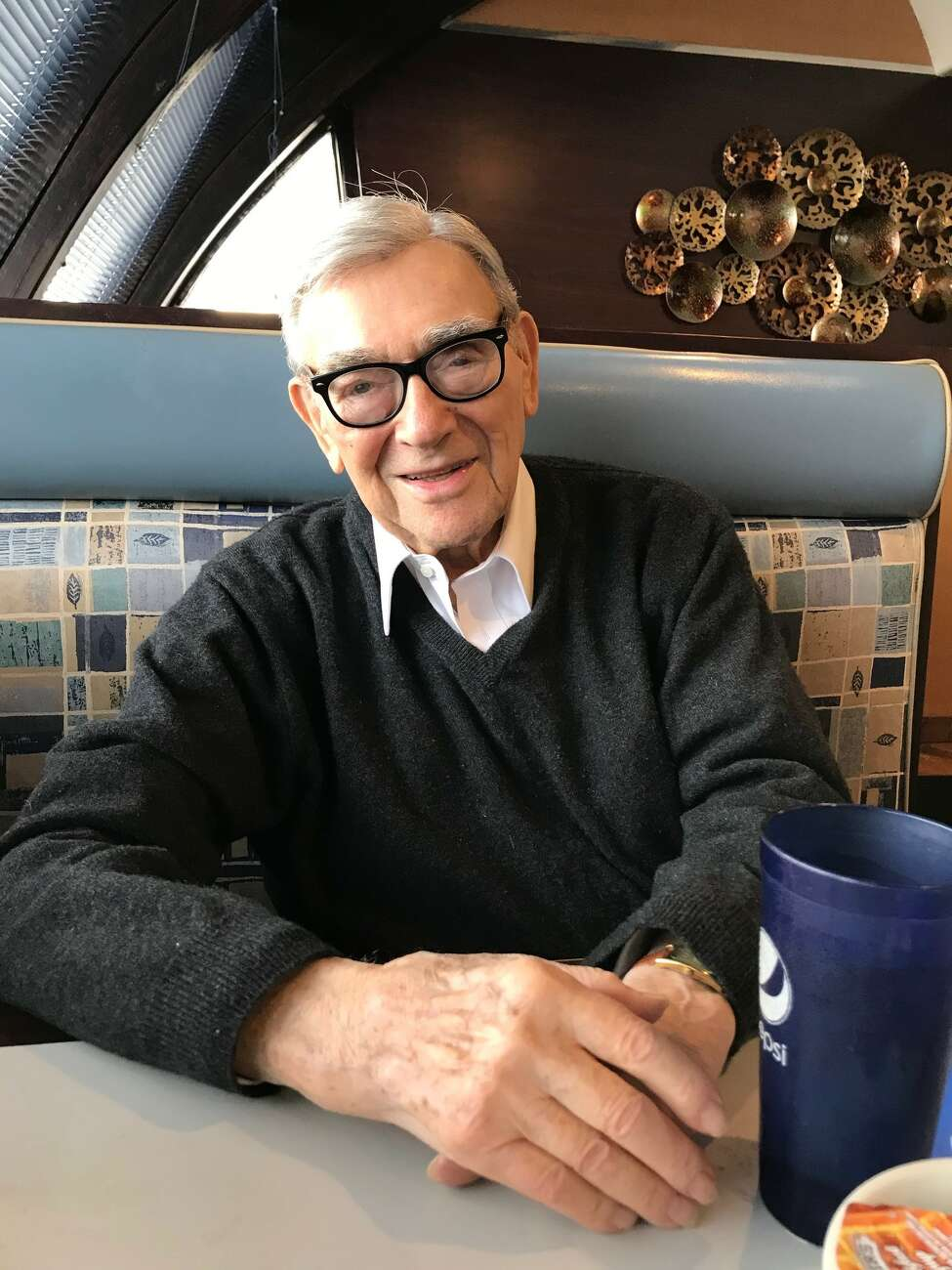 Leonard A. Weiss, the retired presiding justice of the Appellate Division of state Supreme Court, during a recent visit to the Gateway Diner in Albany.