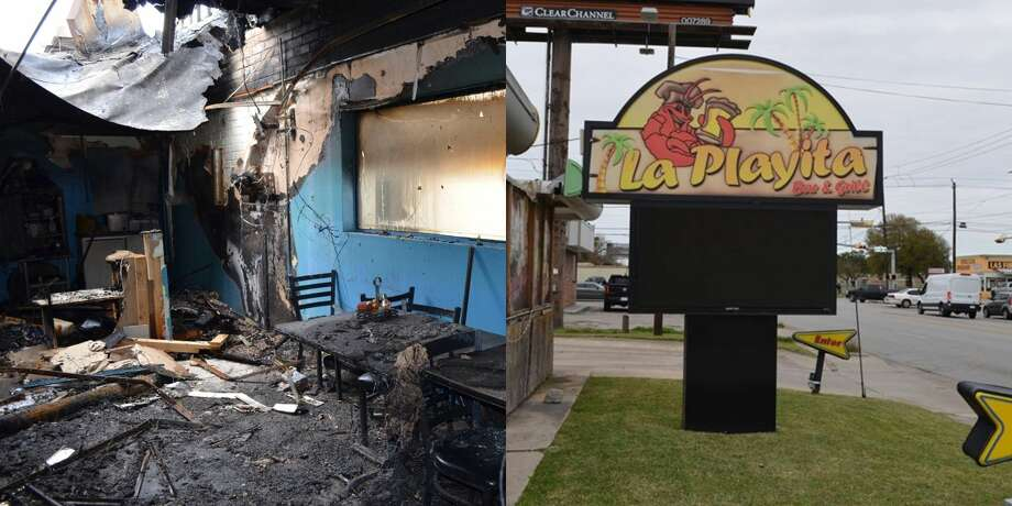 Police are searching for the suspects responsible for setting the La Playita Bar and Grill in Pasadena and fire last month. Photo: Pasadena Fire Marshal's Office