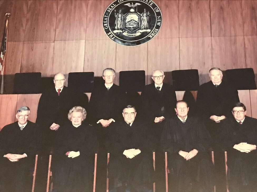 Undated photo of state Supreme Court Justice Leonard A. Weiss, center front row, is joined with other judges on the state Supreme Court's Appellate Division Third Department (Paul Grondahl / Times Union)