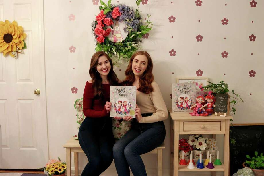 Twin sisters Katherine and Caroline Brickley have developed a business called the Blossom Company in their home in New Canaan. They started a campaign called #IAmBlossom to encourage children to celebrate their one-of-a-kind qualities and abilities. They were interviewed in January 2020. Photo: Contributed Photo