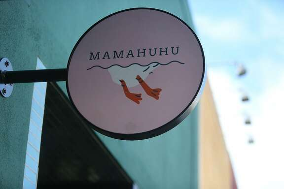 Signage for Mamahuhu is seen outside the restaurant on Monday, January 13, 2020 in San Francisco, Calif.