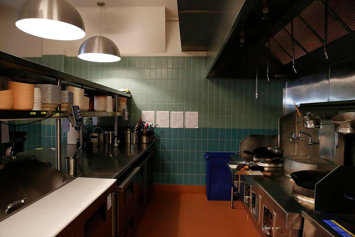 Counter and cooking spaces are seen in the kitchen at Mamahuhu on Clement Street on Monday, January 13, 2020 in San Francisco, Calif.