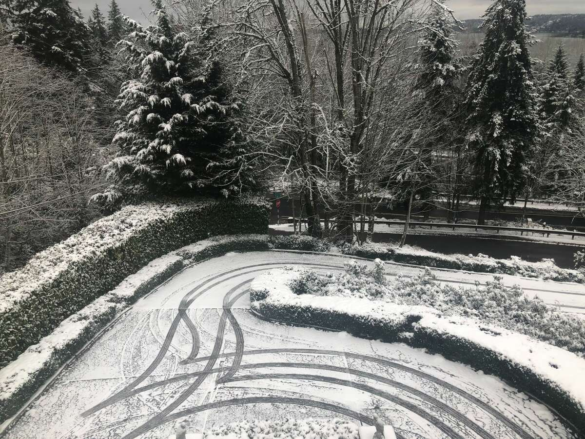 The Eastgate neighborhood of Bellevue coated in snow.