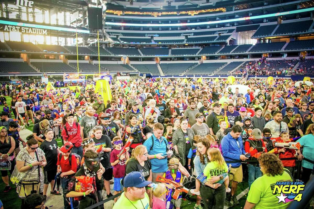 The 5th annual Jared's Epic NERF Battle will be held Saturday, March 21st, at AT&T Stadium in Arlington, Texas.