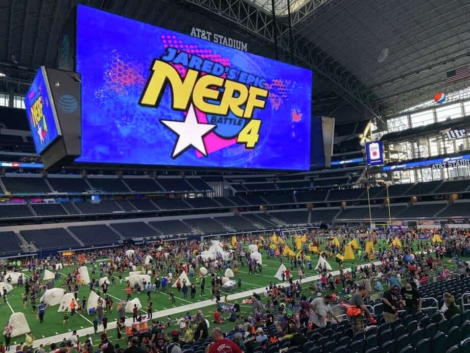 The 5th annual Jared's Epic NERF Battle will be held Saturday, March 21st, at AT&T Stadium in Arlington, Texas. Photo: Jared Guynes/Facebook