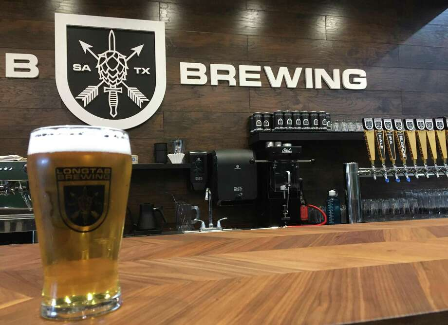 Longtab Brewing currently has three of its beers available at the bar and has room to expand to 12 different kinds on the tap line. Photo: Chuck Blount /Staff
