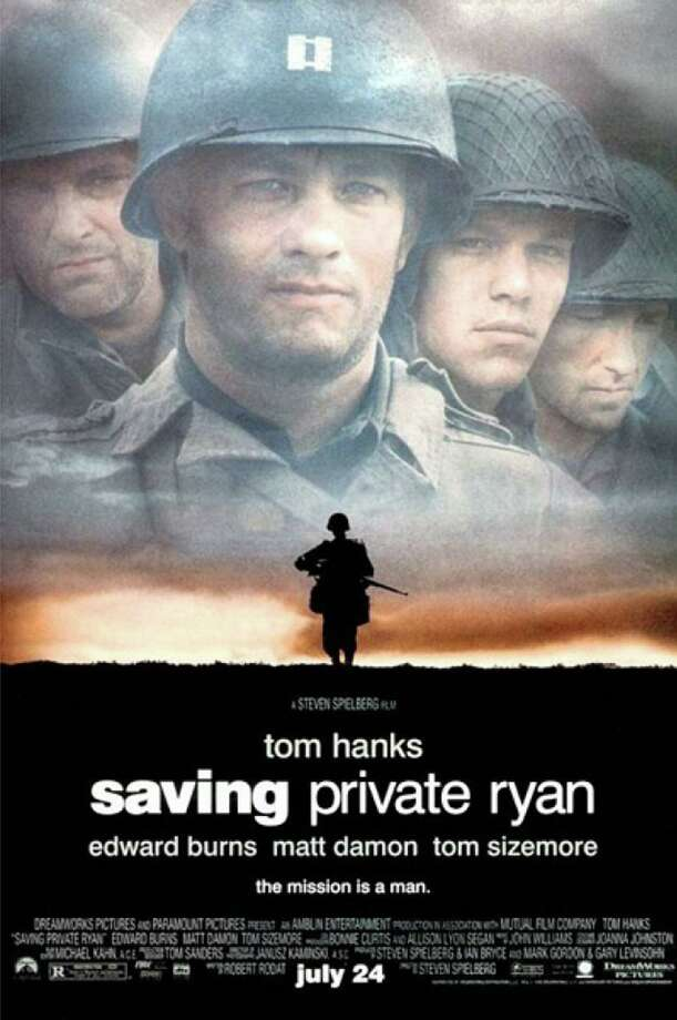 "Spielberg's ""Saving Private Ryan"" includes a graphic and violent depiction of the invasion of Normandy on D-Day. Photo: Contributed Photo / Contributed Photo / Greenwich Time Contributed"