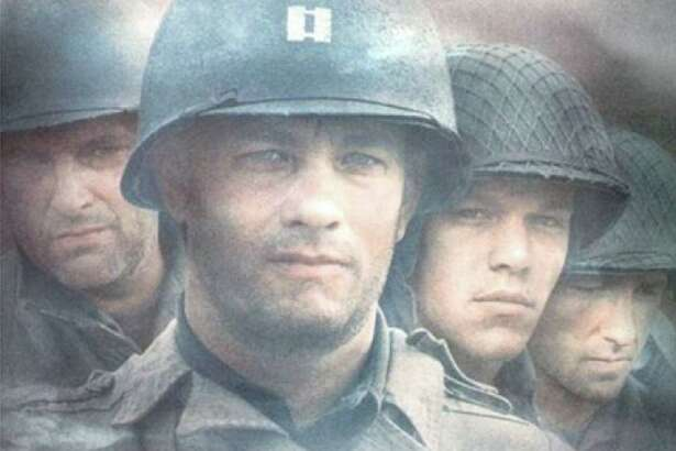 "Spielberg's ""Saving Private Ryan"" includes a graphic and violent depiction of the invasion of Normandy on D-Day."
