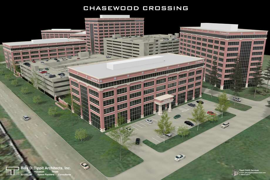 Chasewood Crossing Three, at 19350 Highway 249, is one of six planned buildings in the office campus. Pennnington Commercail Real Estate is marketing the project for the owner, Greenwood Properties. Photo: Chasewood Crossing