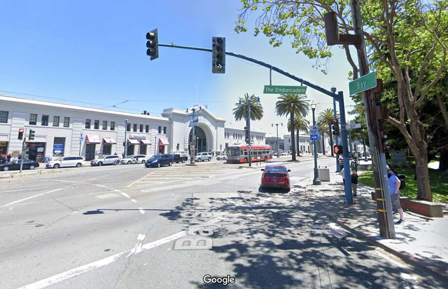 The intersection of Bay Street and The Embarcadero in San Francisco. Photo: Google Maps
