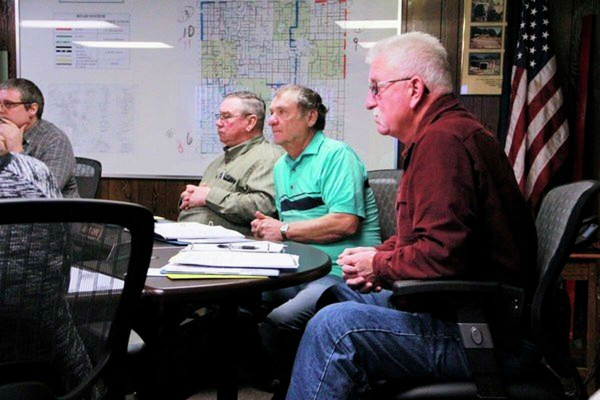 The Mecosta County Road Commission listened to public input at their Tuesday meeting regarding the stop signs at the intersection of 8 Mile Road and 170th Avenue. (Pioneer photo/Alicia Jaimes)