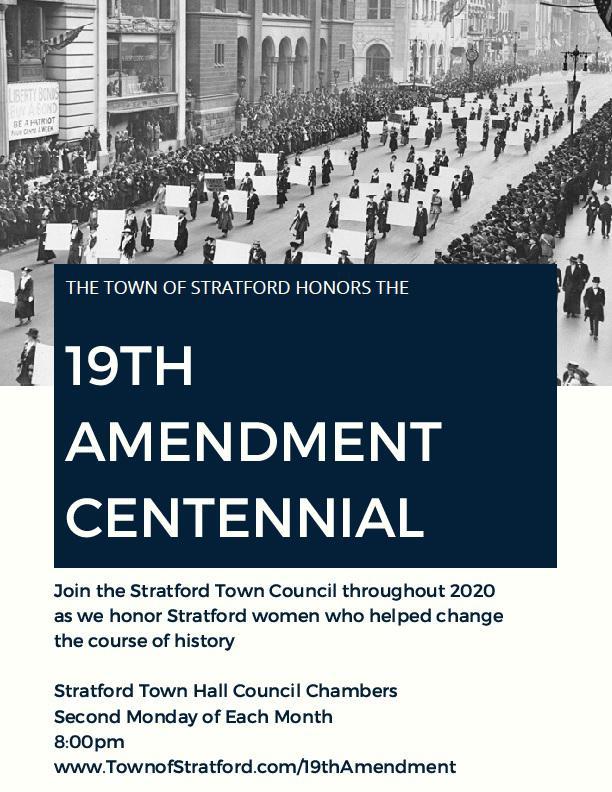Stratford, CT's 'banner suffrage town,' celebrates 19th Amendment centennial