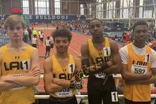 The Jonathan Law boys 4x200 relay of Keyshon Giles, Naheim Washington, Chris Wootton and Rayshon Jacobs set a new school record with a time of 1:34.31 at the Yale Classic.