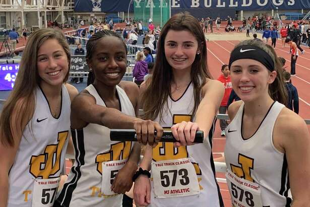 Brooke Dillman, Nia Mayo, Elly Van Wavering and Sydney Simpson ran a personal best of 1:54.27 in the 4x200 for Law at the Yale Classic.