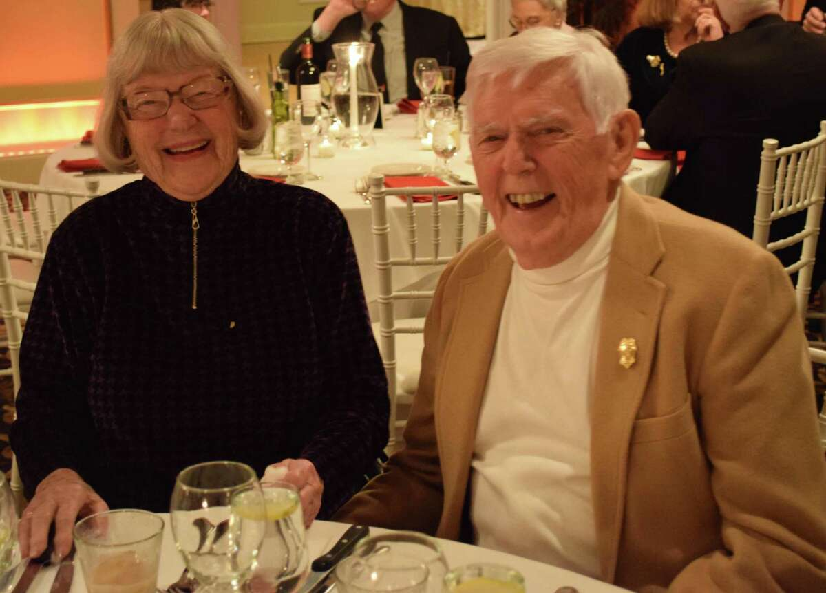 Spectrum/Water Witch Hose Co. #2 in New Milford held its annual dinner Jan. 10, 2020 at the Candlewood Inn in Brookfield. The event featured dinner, awards and reports, and dancing and music. Above are Pearl and Robert Carlson.