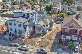 A property at 1818 Adeline in West Oakland includes the opportunity to buy and build: The sale includes a fixer-upper Victorian along with plans to build a five-unit development.
