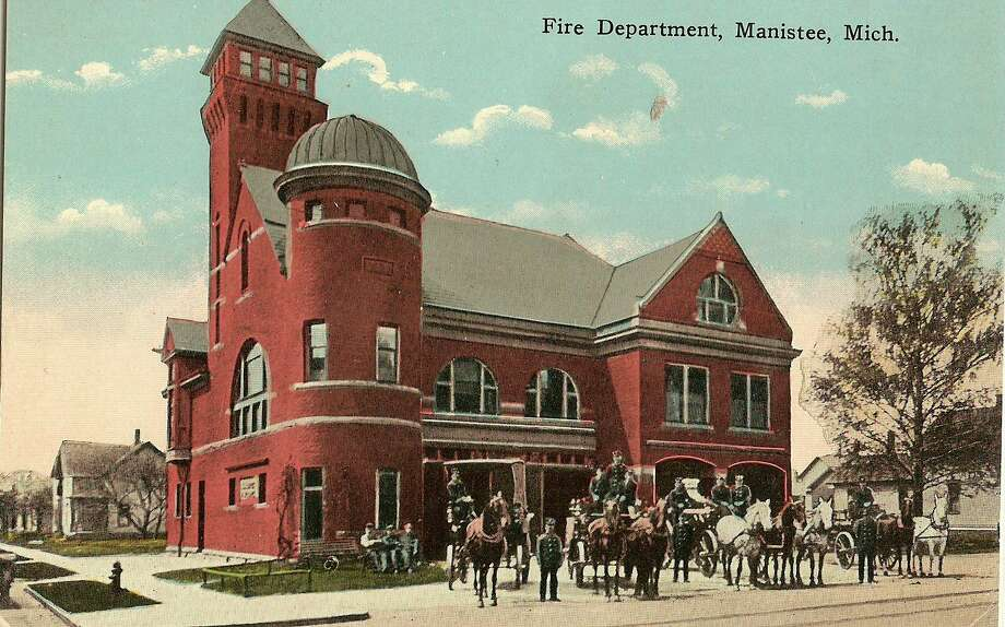 The city of Manistee Fire Department is shown in this 1890s photograph.