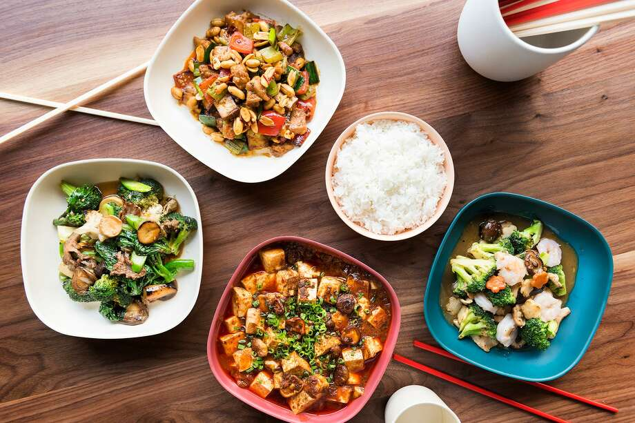 Entrees at Mamahuhu are large enough to share and range from $5 for egg rolls to $19 for a bowl of broccoli beef. Photo: Blair Heagerty / SFGate