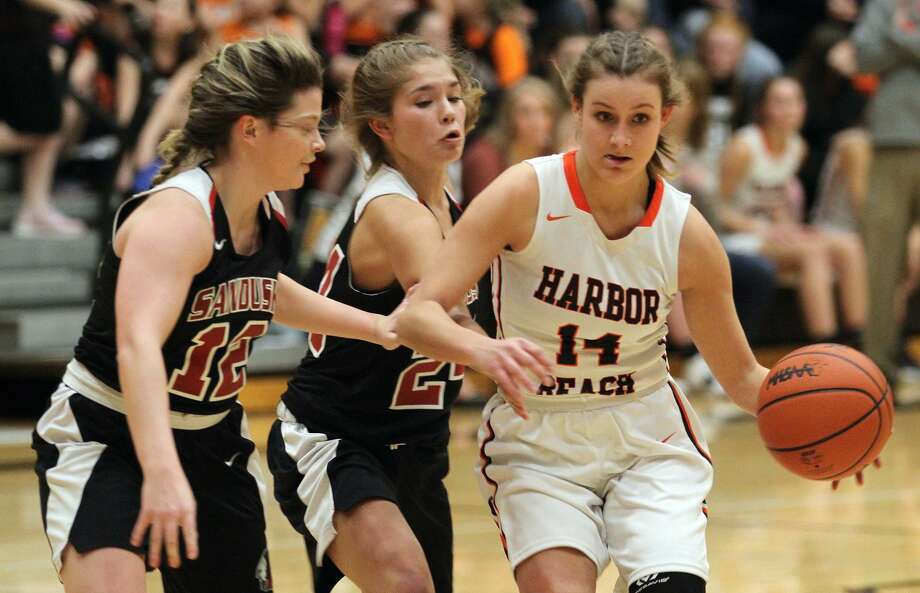 A second-half rally fell short in Harbor Beach on Tuesday, Jan. 14, 2020, as the Pirates fell to Sandusky, 39-27. Photo: Mark Birdsall/Huron Daily Tribune