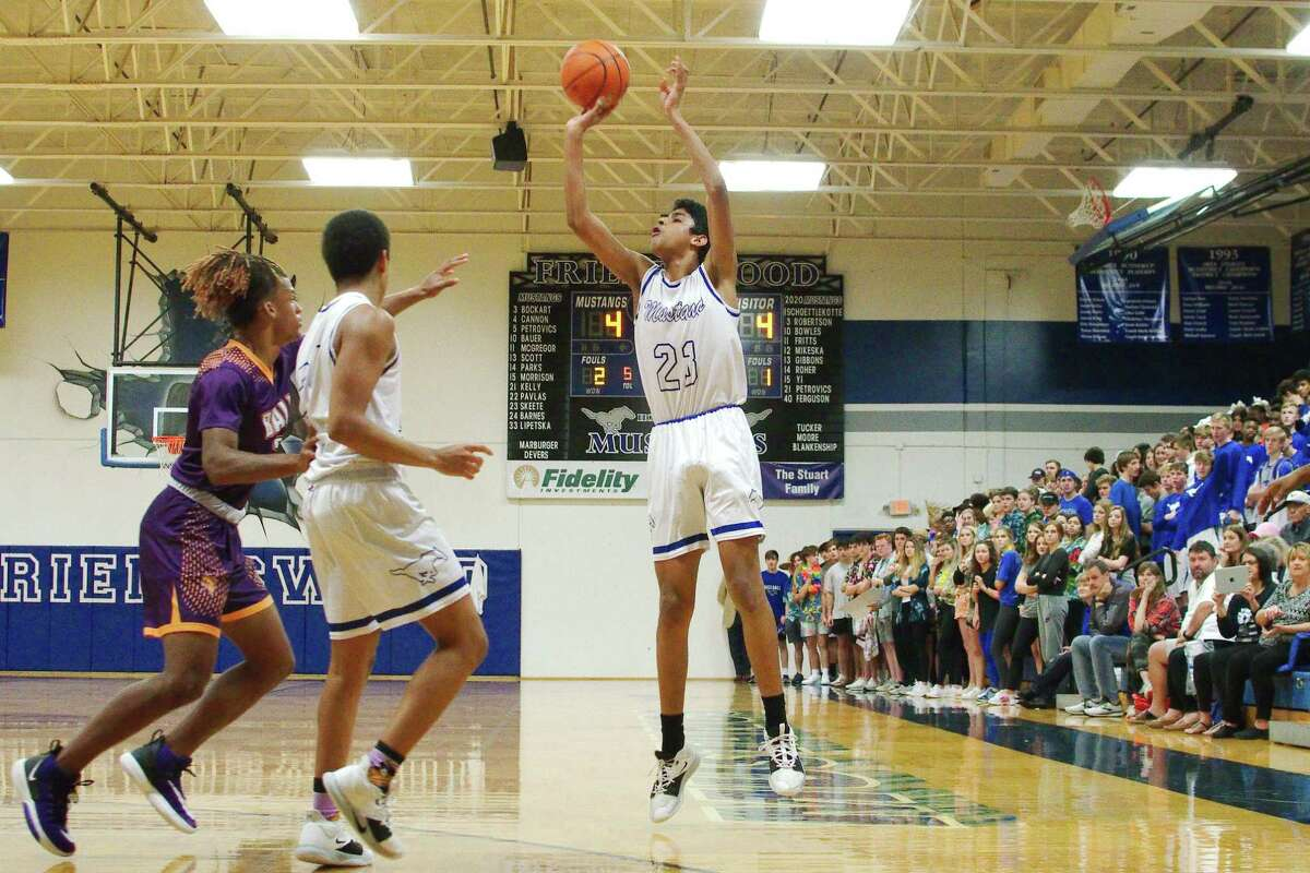Friendswood's Savion Skeete (23), shown here against Galveston Ball earlier this year, sparked Friendswood early, but the Mustangs couldn't hang on in a 32-30 loss to Texas City Tuesday night.
