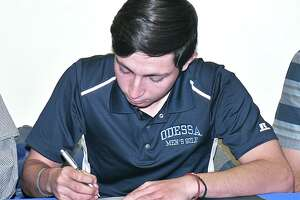 St. Augustine golfer Marcelo Garza signed with Odessa College Tuesday.