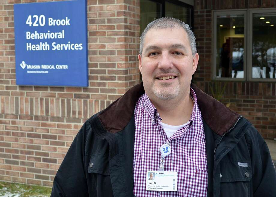 Paul Bock serves in a outpatient role at Munson Medical Center, working as a peer recovery coach.(Photo provided by Munson Medical Center)