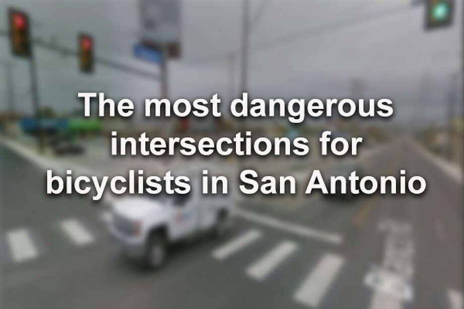Between January 2013 and June 2018, more than 1800 collisions occurred between vehicles and bicyclists in San Antonio. One intersection saw as many as 10 collisions over the 5.5 year span. Click ahead to see the 24 intersections that had the most collisions. (Google Maps Screenshot) Photo: Google Maps