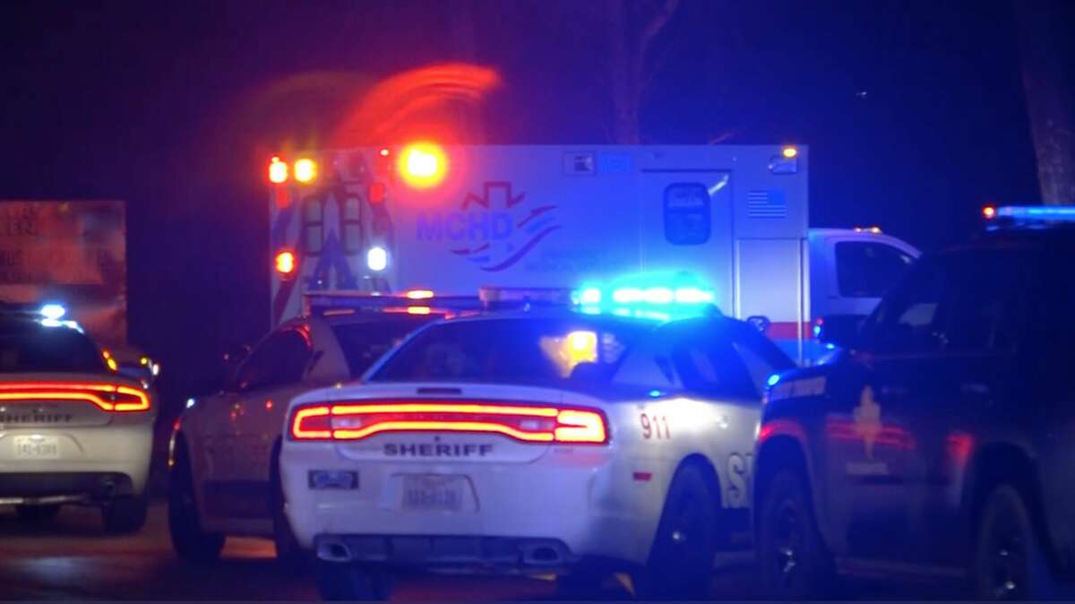 Deputies work the scene of an attempted murder-suicide in Montgomery County on Monday, Jan. 15, 2020.