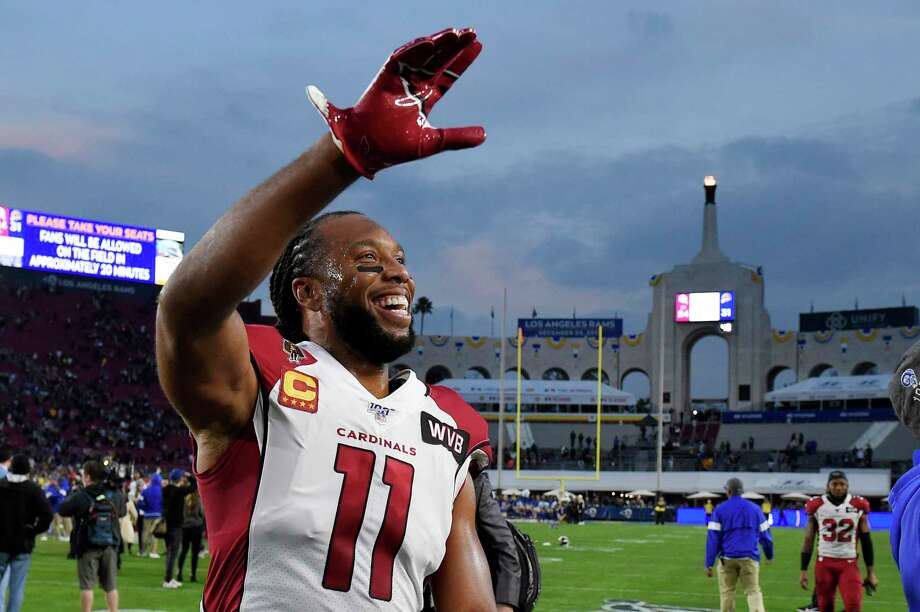 Arizona Cardinals wide receiver Larry Fitzgerald leaves the field after their loss against the Los Angeles Rams in an NFL football game Sunday, Dec. 29, 2019, in Los Angeles. (AP Photo/Mark J. Terrill) Photo: Mark J. Terrill, Associated Press / Copyright 2019 The Associated Press. All rights reserved.
