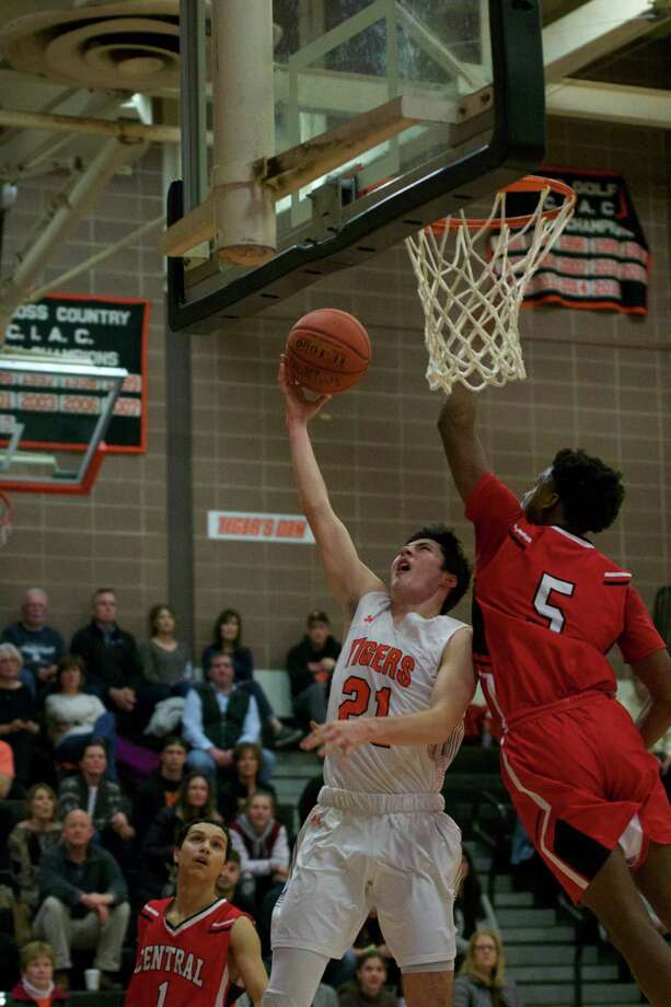 RHS Senior James Rush scores again Bridgeport Central on Tuesday, Jan. 14. Photo: Allison Romeo / Contributed Photo