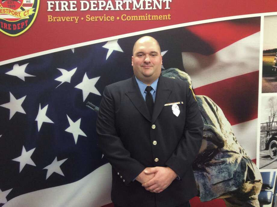 Anthony Maisano, a North Haven native and West Haven resident, was promoted to firefighter to Lieutenant by the Westport Fire Department at a ceremony held on Thursday, January 14, 2020, in Westport, Connecticut. Photo: David Fierro /Hearst Connecticut Media