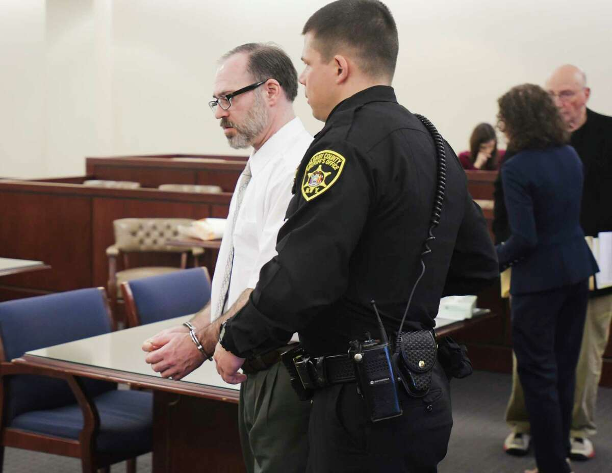 Paul Barbaritano is taken out of Albany County Court following his arraignment on a murder charge on Wednesday, Jan. 15, 2020, in Albany, N.Y. Barbaritano was sent to Albany County Jail without bail. (Paul Buckowski/Times Union)