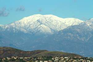 A scenic view of Mt. Baldy in Southern California.
