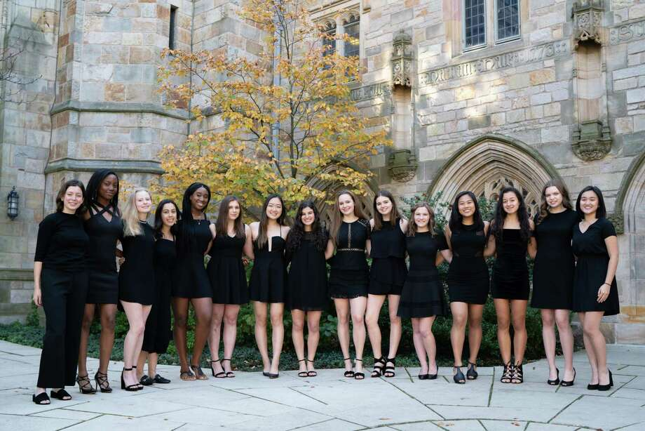 Yale's oldest women's a cappella group, The New Blue, will perform on Tuesday, Jan. 28, at the Trumbull Library. Photo: Contributed Photo