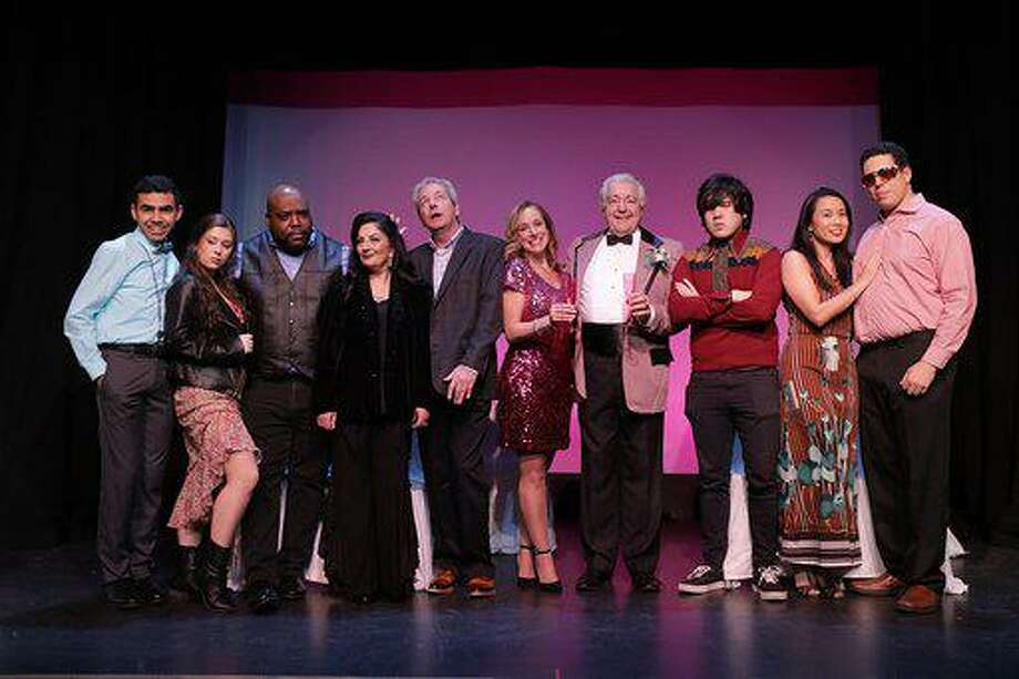 The cast of Four Weddings and an Elvis features Nick Nunez of Stratford; Stephanie Iodice of Stratford; Herman Livingston of Bridgeport; Thursday Savage of Stratford; Paul Templeton of Orange; Colleen Leary of Milford; Tom Torpey of Stratford; Kevin Sisounthone of Shelton; Jennifer Ju of Milford, and Cody Knox of Fairfield. Photo: Keyvon Behpour, KVON Photography