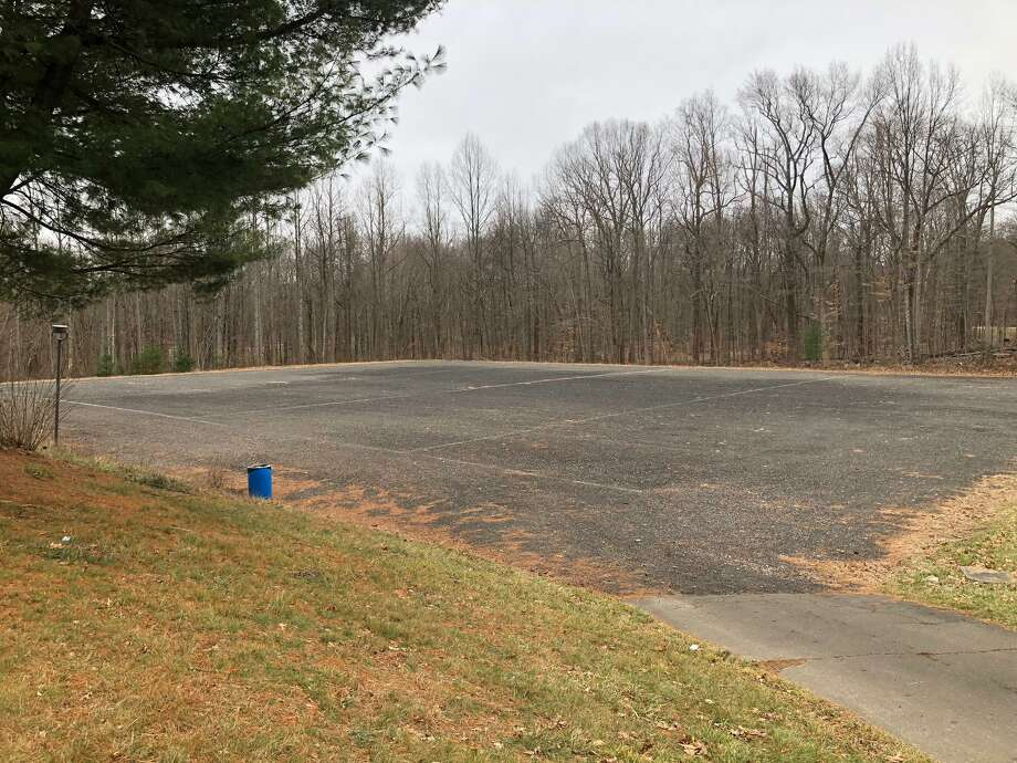 The Shelton High School tennis courts have been razed in preparation for refurbishment in the coming weeks. Photo: Brian Gioiele / Hearst Connecticut Media / Connecticut Post