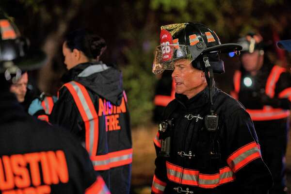 """Rob Lowe on the job as Austin firehouse Capt. Owen Strand in """"9-1-1: Lone Star."""""""