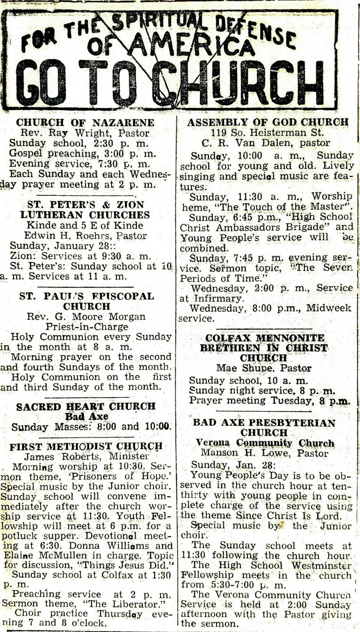 For this week's Tribune Throwback we take a look in the archives from January 1945.