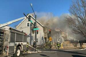 Four people were displaced and one injured in a fire on Winchester Avenue in New Haven Wednesday.