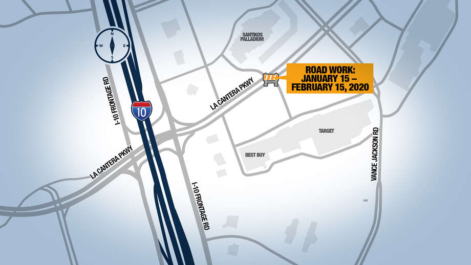 On Wednesday, road work began at The Rim that could affect visitors until it's completed on Feb. 15. Photo: Transportation & Capital Improvements