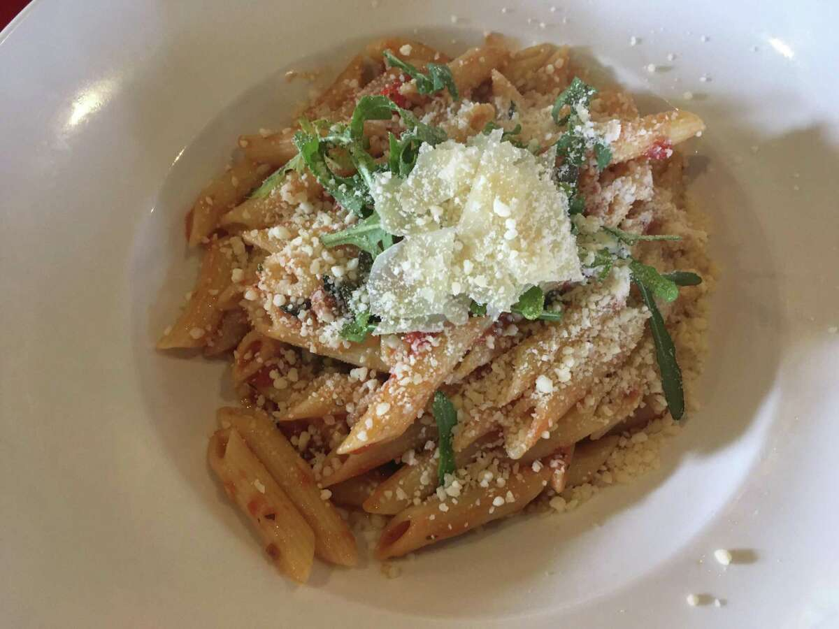 The penne arrabiata at Europa Restaurant & Bar