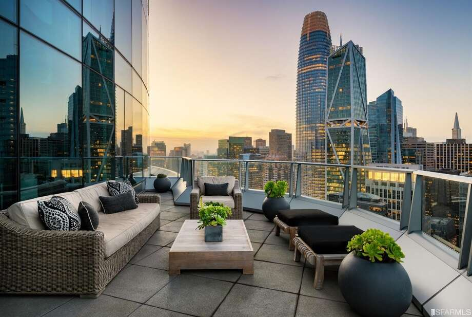 "The nearly $10-million asking price for the penthouse gets buyers the ""shell"" of a 5,700-square-foot three-bedroom, 3.5-bath condo with incredible 41st and 42nd floor views and three view decks. Photo: Steelblue"