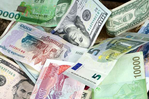 Currency foreign exchange. Business and Financial or money management for investments.