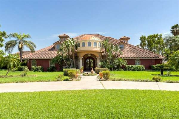 The home at 5137 E. State Highway in Edinburg, Texas, is under foreclosure at $799,000.