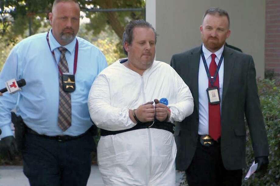 Anthony Todt is seen with law enforcement officials on Wednesday, Jan. 15, 2020 in Florida. Photo: WEST