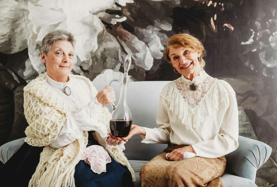 """From left, Terry Lyn Hale as Martha Brewster and Marilyn Moore as Abby Brewster in The Players Theatre Company's """"Arsenic and Old Lace."""" The show opens at the Owen Theatre on Jan. 24 and continues through Feb. 8 Photo: Photo By Kelley Harris With Dazzling Diva Photography"""