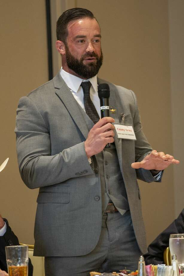 Casey Gray a Republican candidate for Congress District 11 speaks at a forum held by the Ector County Republican Women on Wednesday, Jan. 15, 2019 at the Odessa Country Club. Jacy Lewis/Reporter-Telegram Photo: Jacy Lewis/Reporter-Telegram
