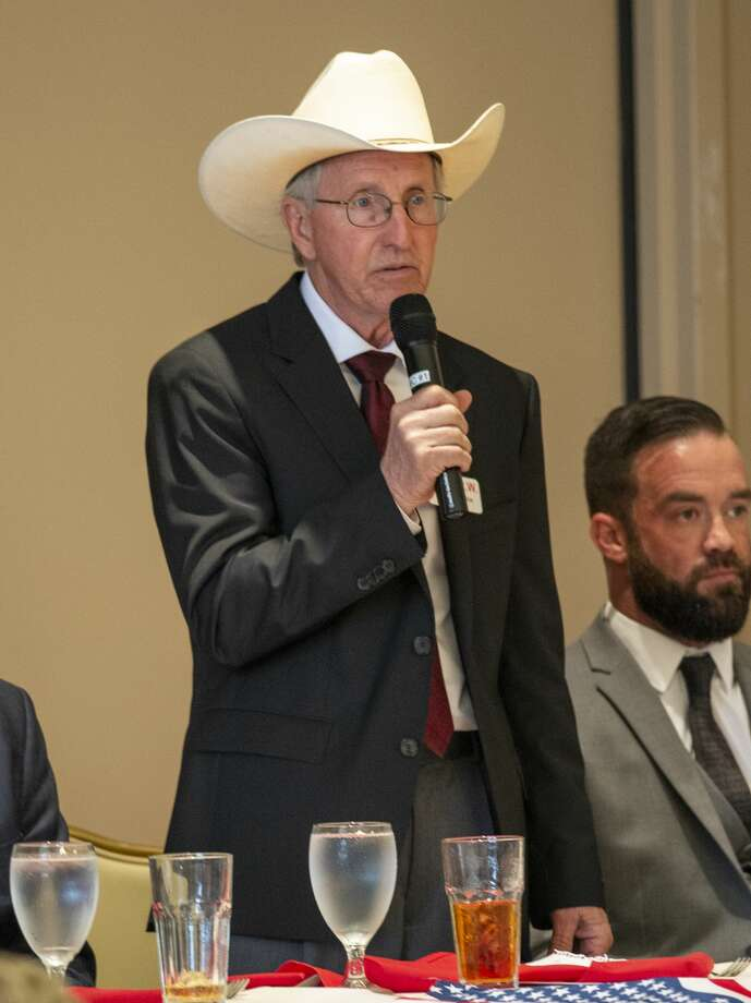 Ned Luscombe a Republican candidate for Congress District 11 speaks at a forum held by the Ector County Republican Women on Wednesday, Jan. 15, 2019 at the Odessa Country Club. Jacy Lewis/Reporter-Telegram Photo: Jacy Lewis/Reporter-Telegram